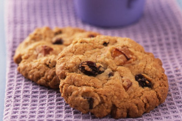 Oat, apricot and raisin cookies