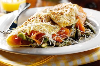 Smoked Salmon and Asparagus Omlette