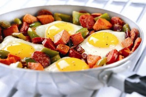 Sweet Potato and Chorizo Hash