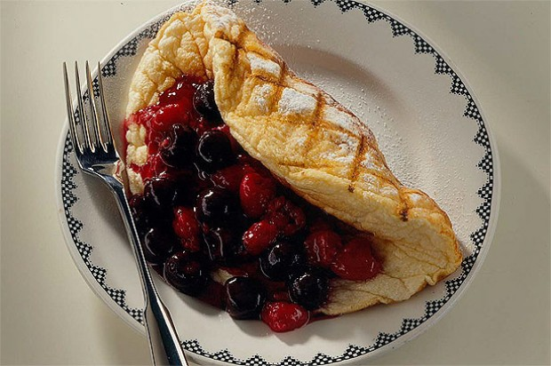 Raspberry and Cherry Treat Omlette