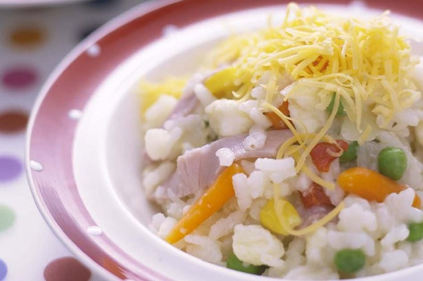 Cheese and ham risotto recipe