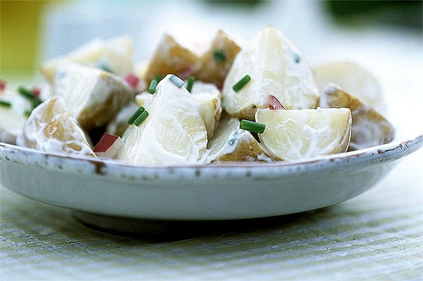 Creamy new potato salad