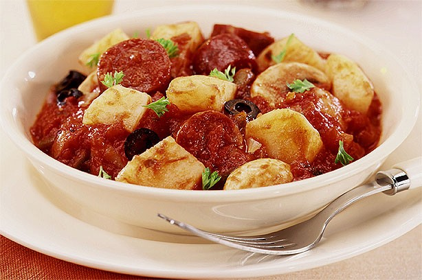 Chorizo and tomato potatoes