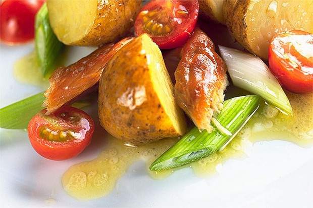 Smoked mackerel and potato salad
