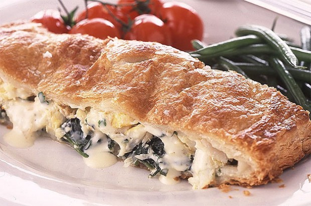Creamy Haddock and Spinach Pie