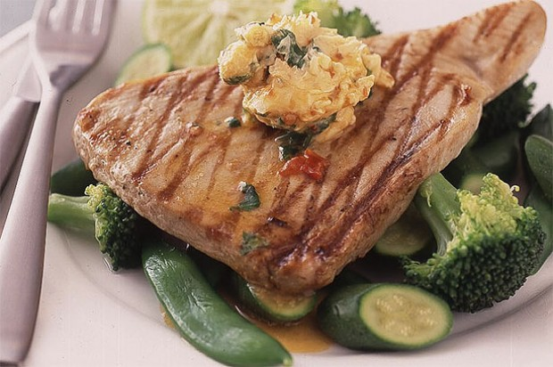 Tuna Steak with Chilli and Lime Butter