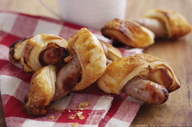 Sausage rolls with a twist recipe goodtoknow for Sausage roll recipe uk