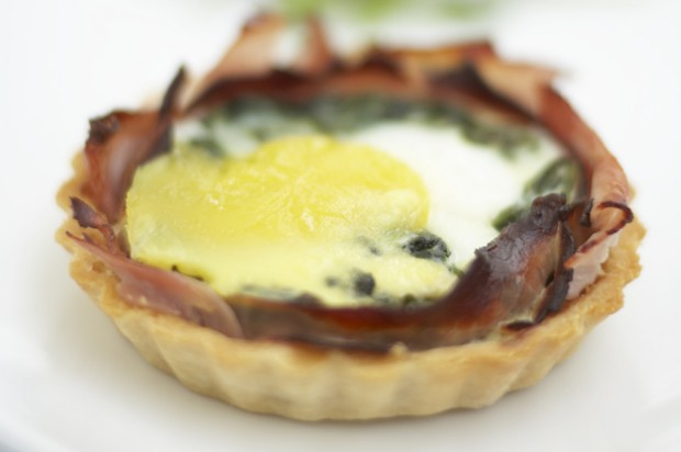 Ham and egg tart Respectful eggs