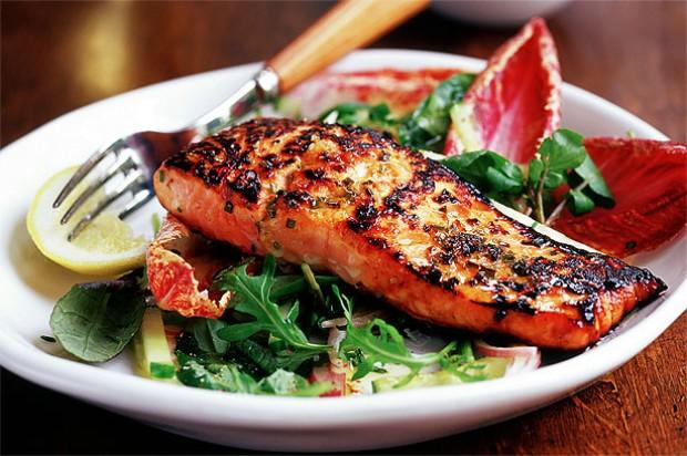 Marinated Salmon Salad