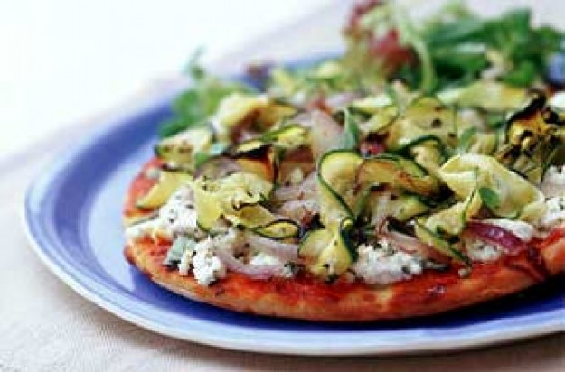 Vegetable and Ricotta Pizza