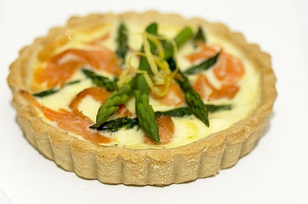 Asparagus and Salmon Tartlets