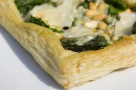 Courgette, Basil and Goats' Cheese Tart