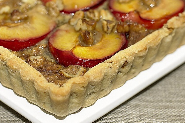 Plum and Walnut Tart