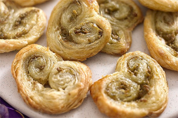 Blackberry and clotted cream palmiers