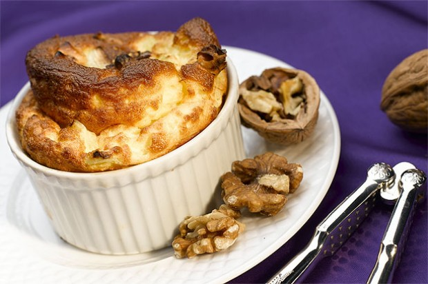Festive Leek and Emmental Hot Cheese Souffle