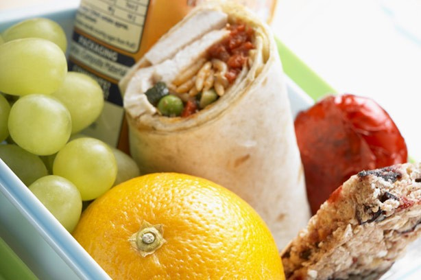 Lunchbox menu plan fruit wrap packed lunch