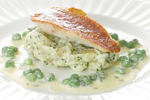Red mullet with chive potatoes goodtoknow for Mullet fish recipe