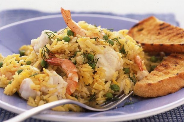 Monkfish and prawn Pilau