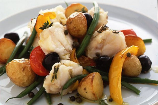 Monkfish nicoise recipe goodtoknow for Monk fish recipes