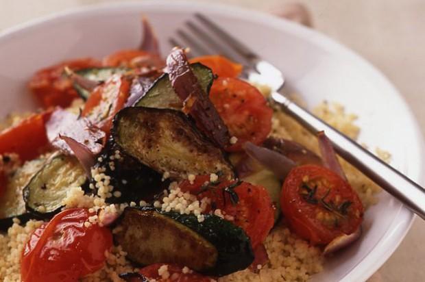 Roast courgette couscous