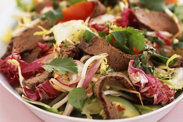 Thai beef and chilli salad