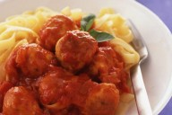Chicken meatball tagliatelle
