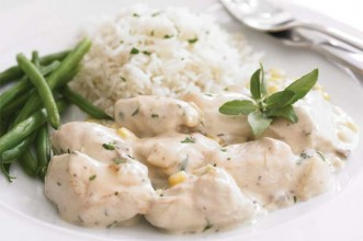 Chicken with cremini cream sauce