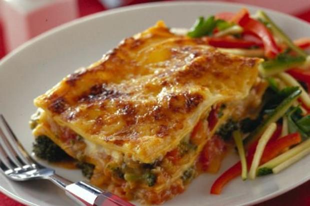 Quick vegetable lasagne