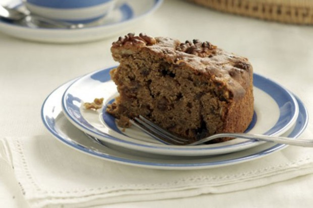 date walnut cake slice fruity