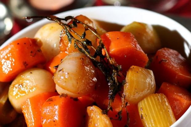 Ale braised carrot