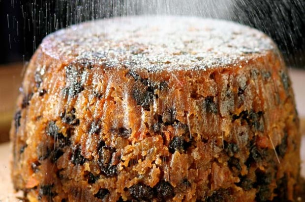 Lincoln carrot xmas pudding