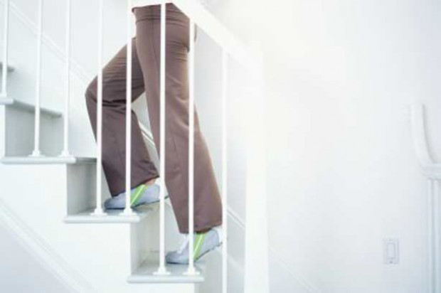 Stair woman keep fit climbing