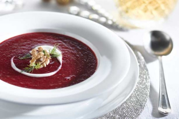 Beetroot and pomegranate soup