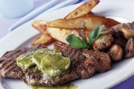 Steak with Pesto Butter
