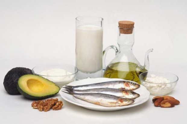 olive oil, mackerel, avocado, nuts and milk