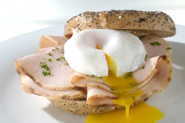Turkey and Egg Bagel