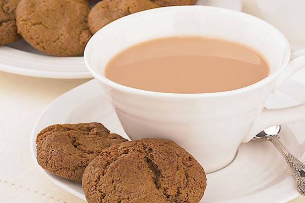 Crunchy Ginger Biscuits tea
