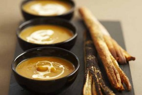 Pumpkin and Sweet Potato soup alpro