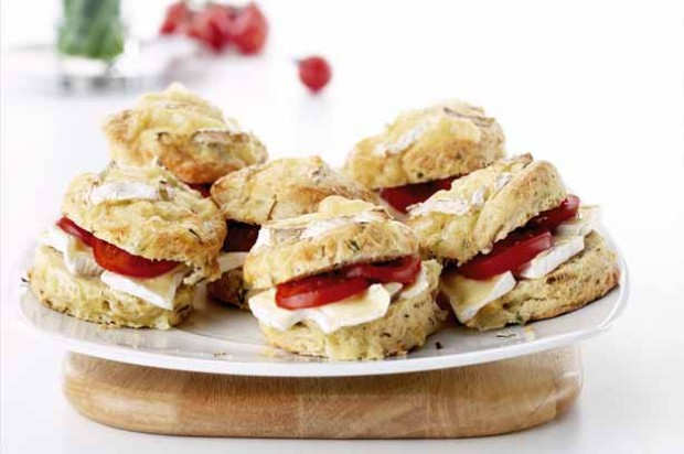 Camembert and Chive Scones