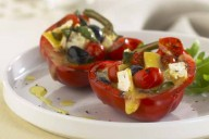 Roast Stuffed Peppers with Brie and Tapenade