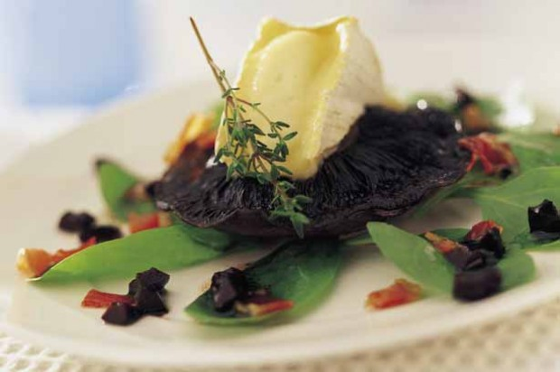 Portobello Mushrooms and Camembert