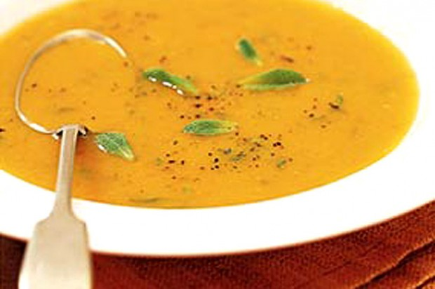 Carrot and mint soup