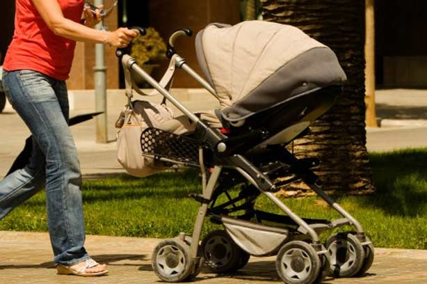 Buying buggy baby pushchair woman