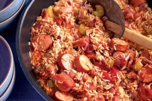 Rosemary Conley's smoked sausage jambalaya