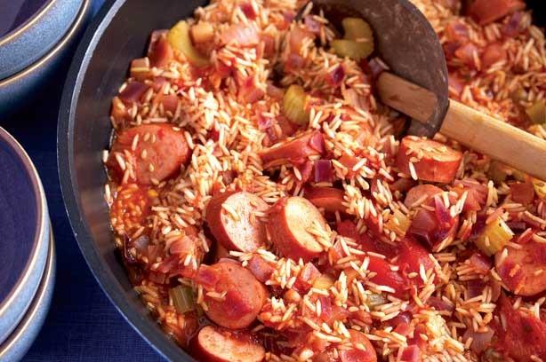 ... to make with tinned tomatoes - Smoked sausage jambalaya - goodtoknow