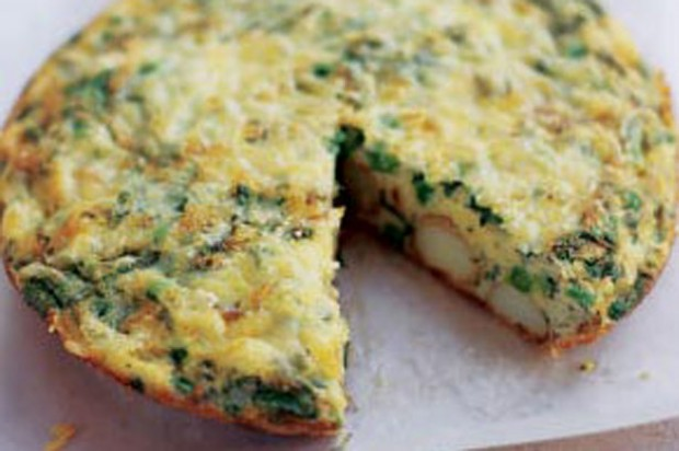 Cheese and onion frittata