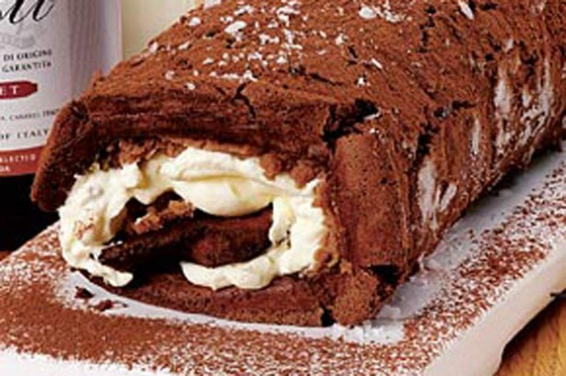 Chestnut chocolate log