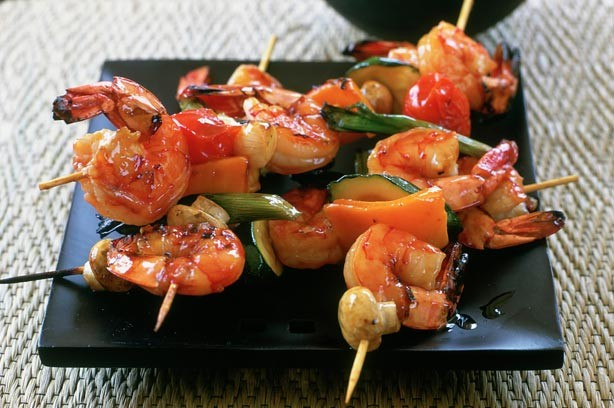 Sticky tiger prawns recipe