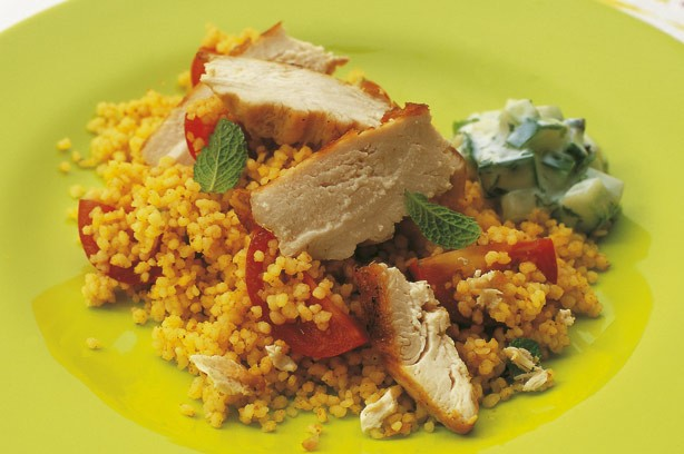 Quick and easy warming chicken and tomato cous cous