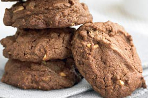 Peanut butter and choc cookies